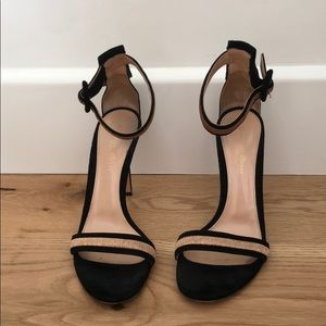 Gianvito Rossi Suede Ankle Strap Heels